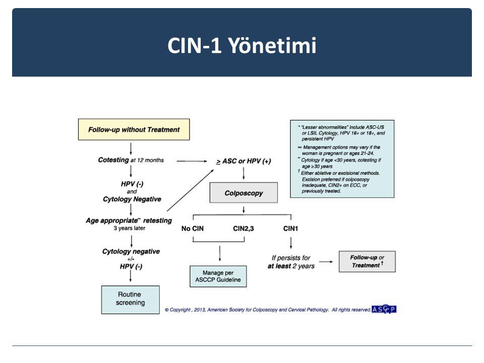 CIN-1 Yönetimi