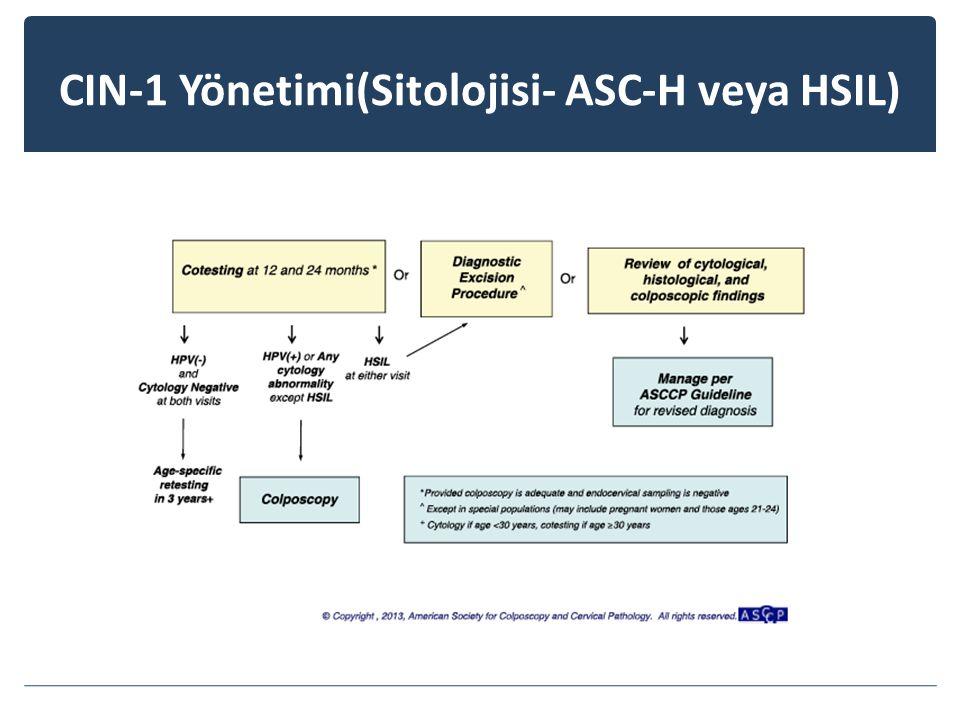 CIN-1 Yönetimi(Sitolojisi- ASC-H veya HSIL)