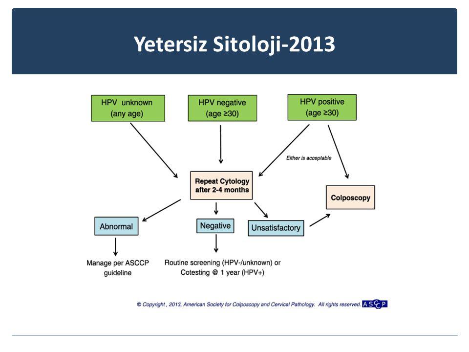 Yetersiz Sitoloji-2013