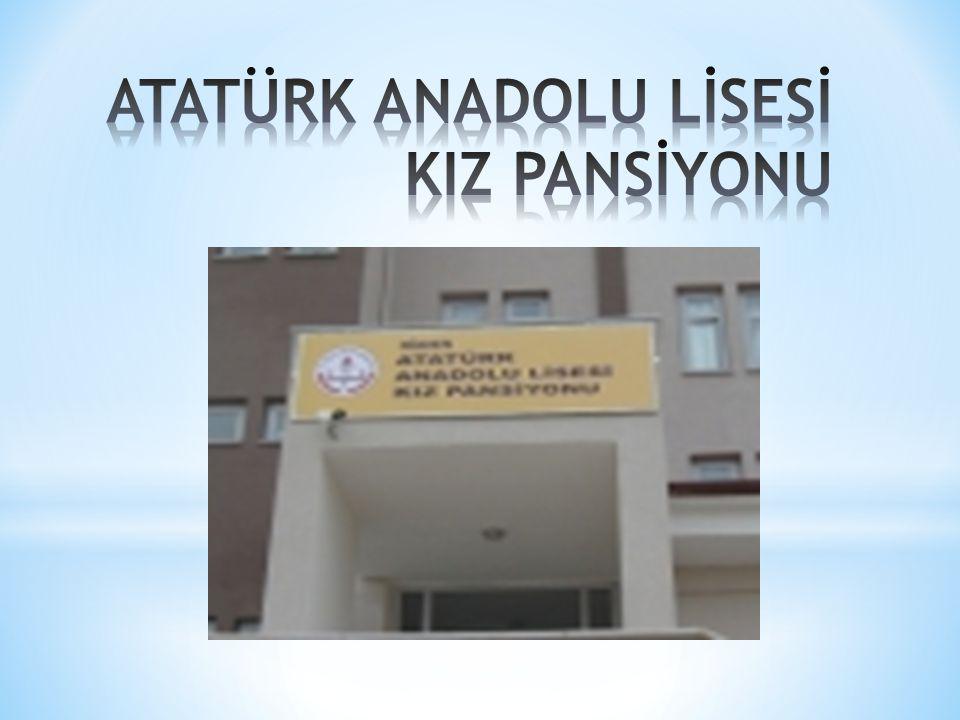 * Iğdır Merkez Atatürk Anadolu Lisesi'ne bağlı Kız Öğrenci Pansiyonu 200 yatak kapasitesine sahiptir.