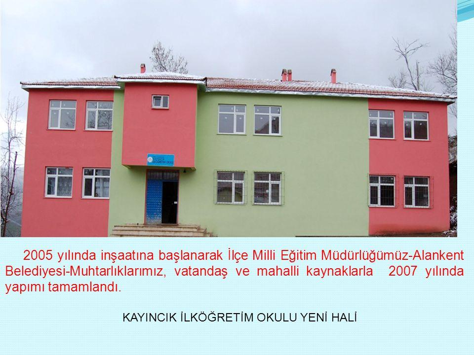 2005 yılında inşaatına başlanarak İlçe Milli Eğitim Müdürlüğümüz-Alankent Belediyesi-Muhtarlıklarımız, vatandaş ve mahalli kaynaklarla 2007 yılında yapımı tamamlandı.