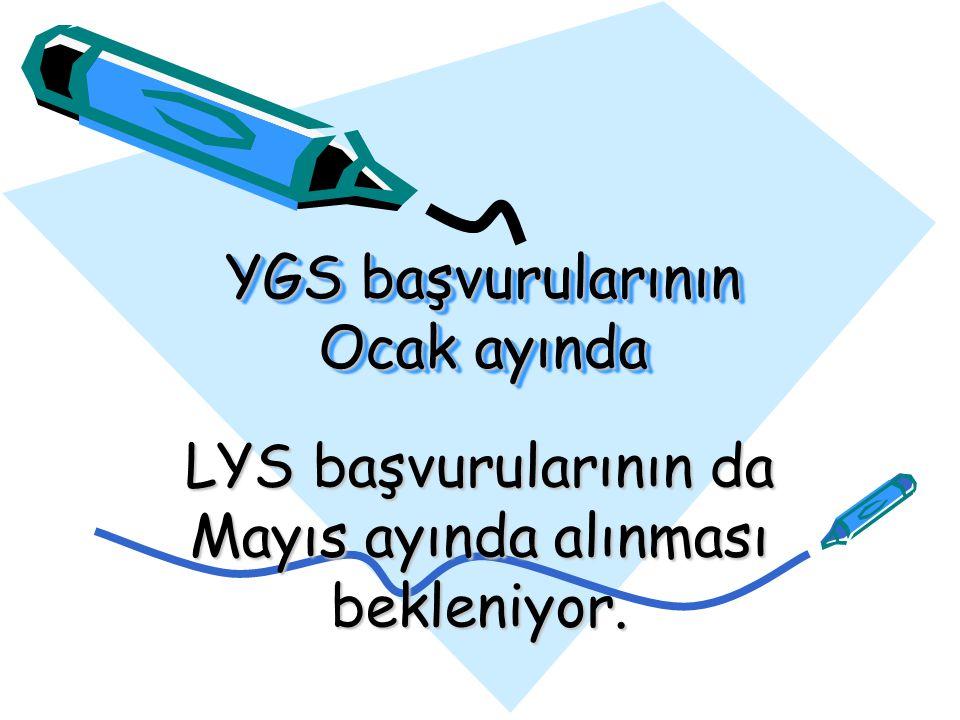 YGS = 11 Nisan 2010 LYS 1 --- Matematik-Geometri Sınavı = 19 Haziran 2010 Saat: 10:00 LYS 2 --- Fen Bilimleri (Fizik, Kimya, Biyoloji) Sınavı = 27 Haziran 2010 Saat: 10:00 LYS 3 --- Edebiyat- Coğrafya (Türk Dili ve Edebiyat-Coğrafya1) Sınavı = 26 Haziran 2010 Saat: 10:00 LYS 4 --- Sosyal Bilimler (Tarih, Coğrafya2, Felsefe Grubu) Sınavı = 20 Haziran 2010 Saat: 10:00 LYS 5 --- Yabancı Dil Sınavı = 19 Haziran 2010 Saat: 14:00