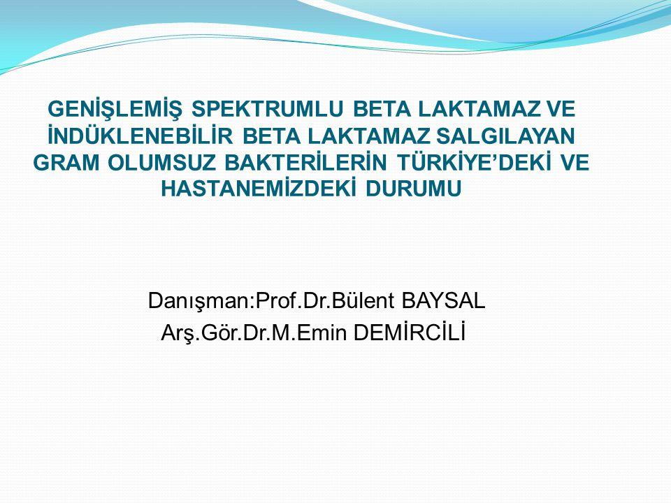 Selçuk Üniversitesi Meram Tıp Fakültesi Mikrobiyoloji GSBL Oranları (2004-2009) ESBL Toplam Sayı% % % E.