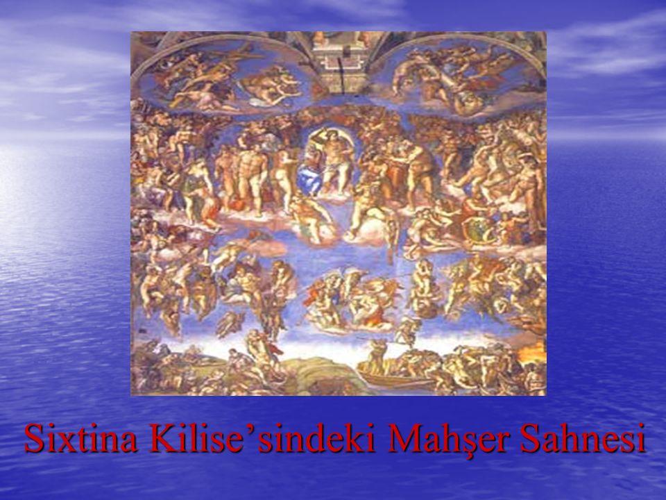 Sixtina Kilise'sindeki Mahşer Sahnesi