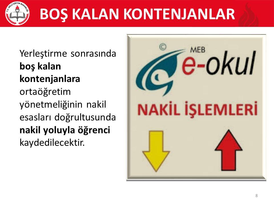 ÖZEL OKULLARDA TAM BURSLU ÖĞRENCİLER ÖZEL OKULLARIN TAM BURSLU ÖĞRENCİLERİ ALACAKLARI AŞAMALAR VE YÜZDELİK DİLİMLER Türkiye Geneli Puan üstünlüğüne Göre İlk %5'lik Dilim (karşılanamaz ise) İl Geneli Puan üstünlüğüne Göre İlk %5'lik Dilim 9