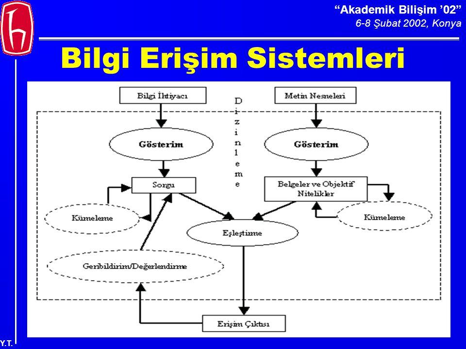 Akademik Bilişim '02 6-8 Şubat 2002, Konya Y.T. Bilgi Erişim Sistemleri
