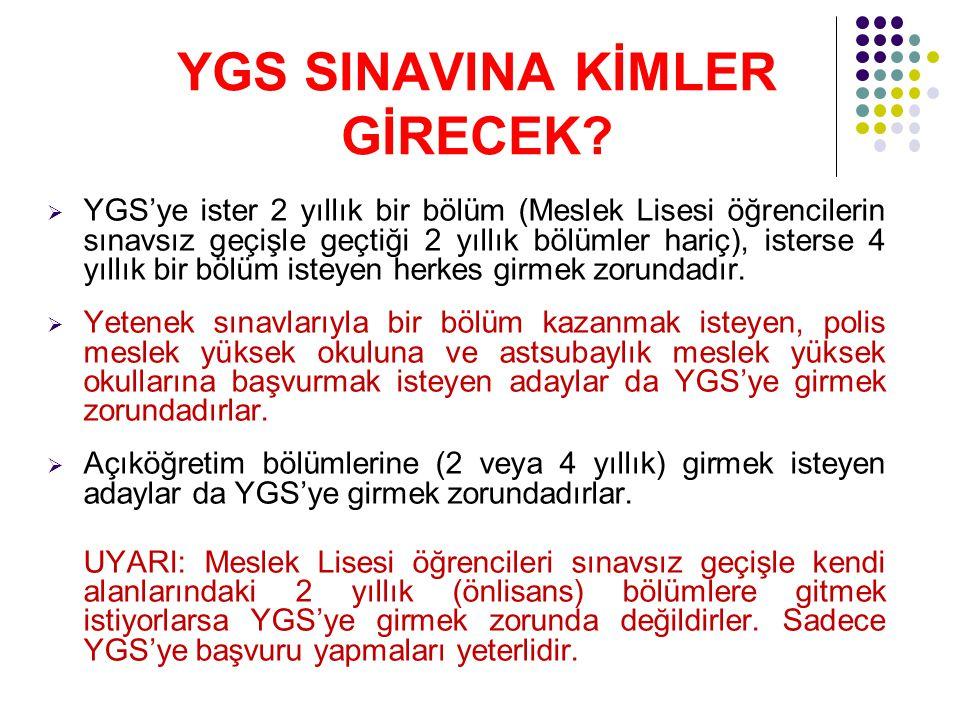 YGS SINAVINA KİMLER GİRECEK.