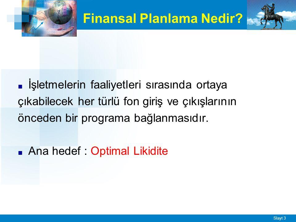 Slayt 3 Finansal Planlama Nedir.