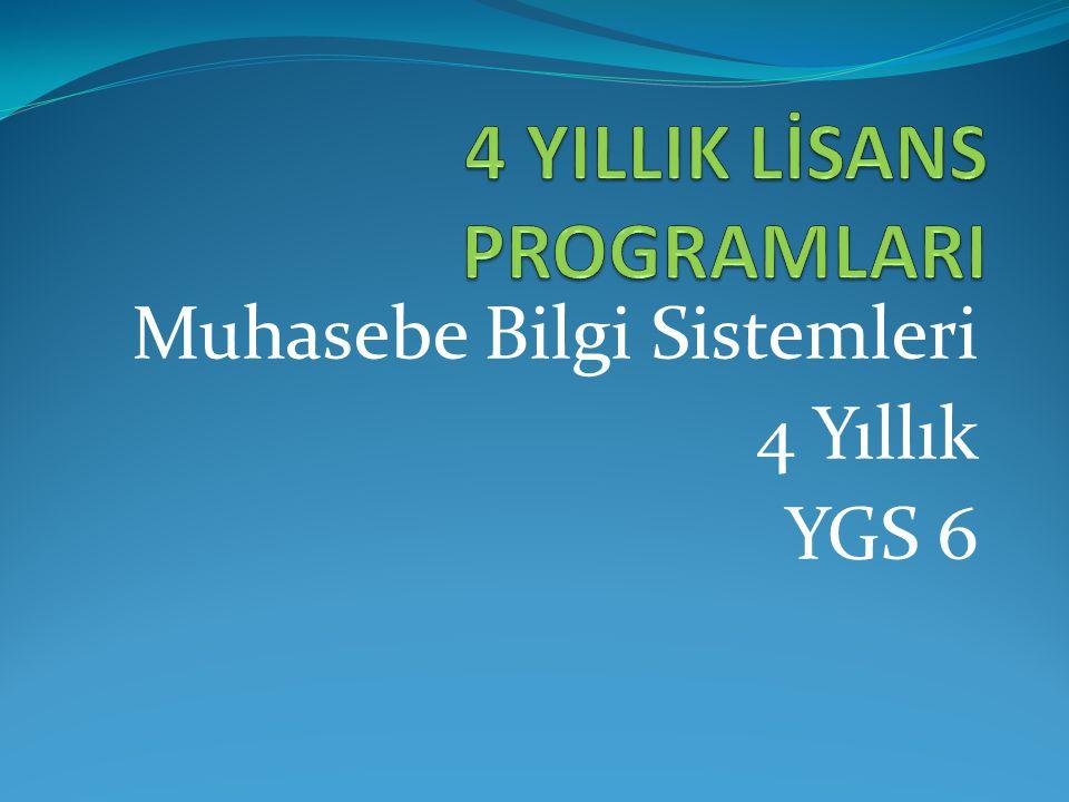 Muhasebe Bilgi Sistemleri 4 Yıllık YGS 6