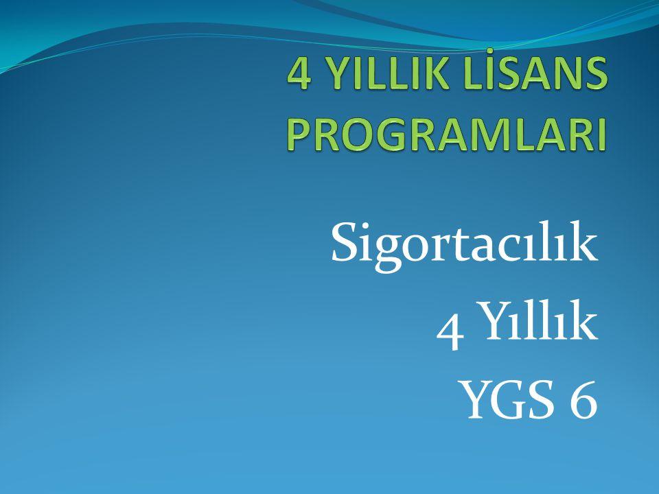Sigortacılık 4 Yıllık YGS 6