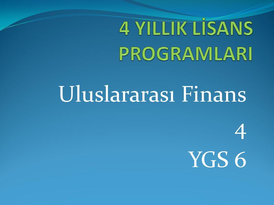 Uluslararası Finans 4 YGS 6