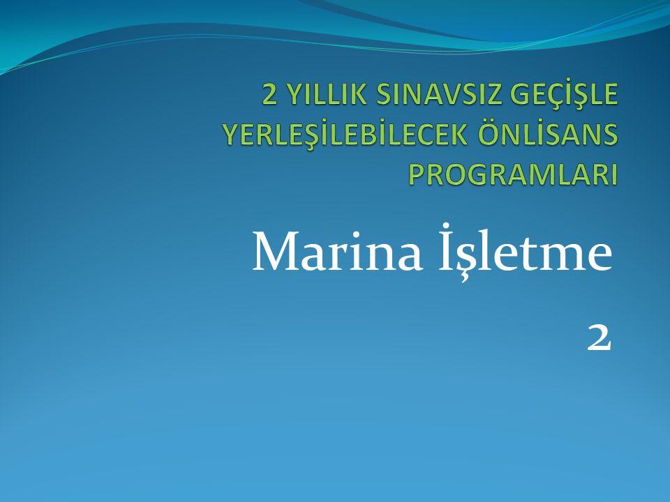 Marina İşletme 2