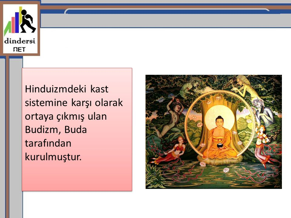 Buda nın asıl adı Gotama Sidhartha (Sidarta) dır ilhama kavuşmuş, aydınlanmış, uyarmış anlamlarına gelen Budda lakabı, kendisine sonradan verilmiştir.Buda nın, M.Ö.