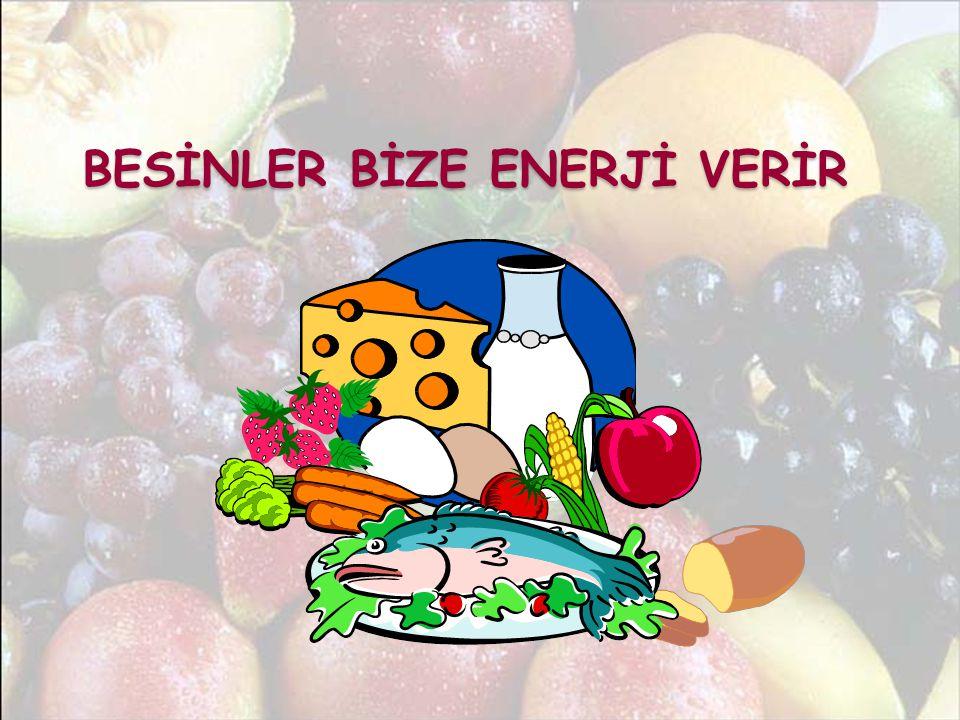 BESİNLER BİZE ENERJİ VERİR BESİNLER BİZE ENERJİ VERİR