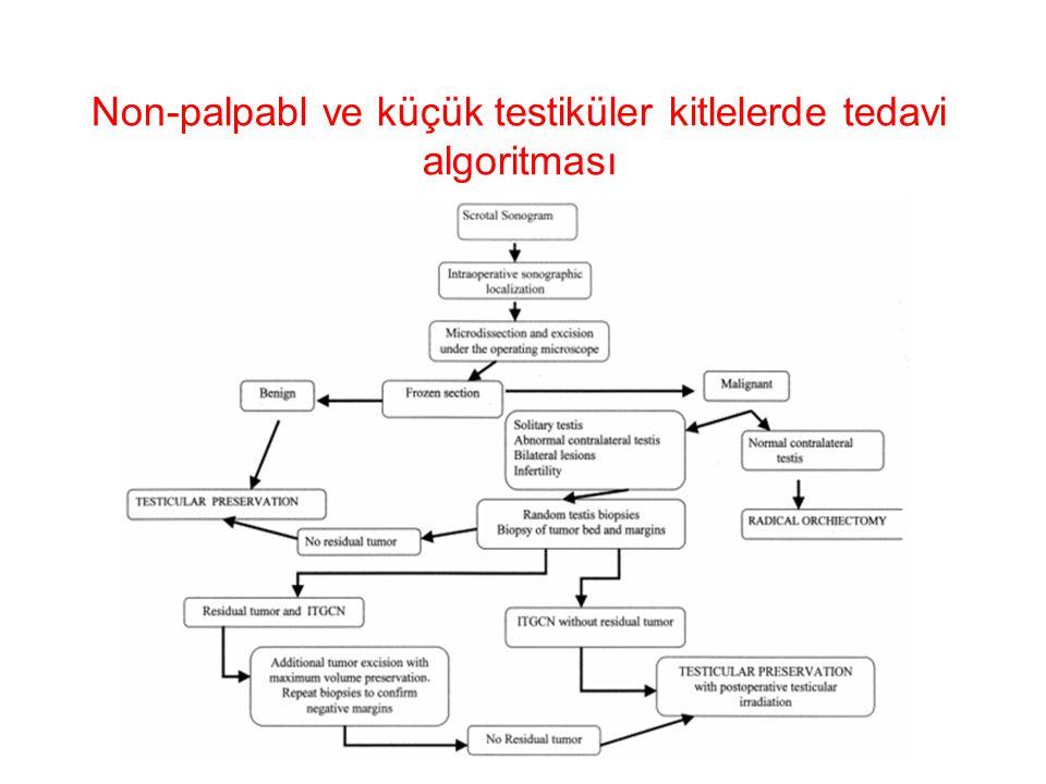 Non-palpabl ve küçük testiküler kitlelerde tedavi algoritması