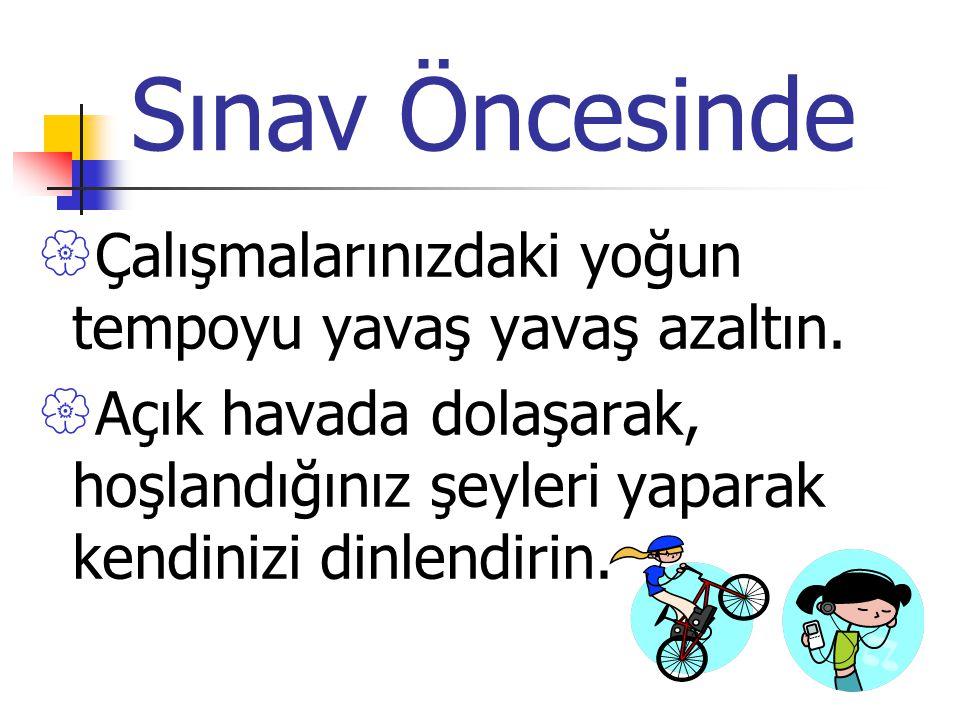 OKS 2013 SINAV TAKTİKLERİ VE SON ÖNERİLER.......