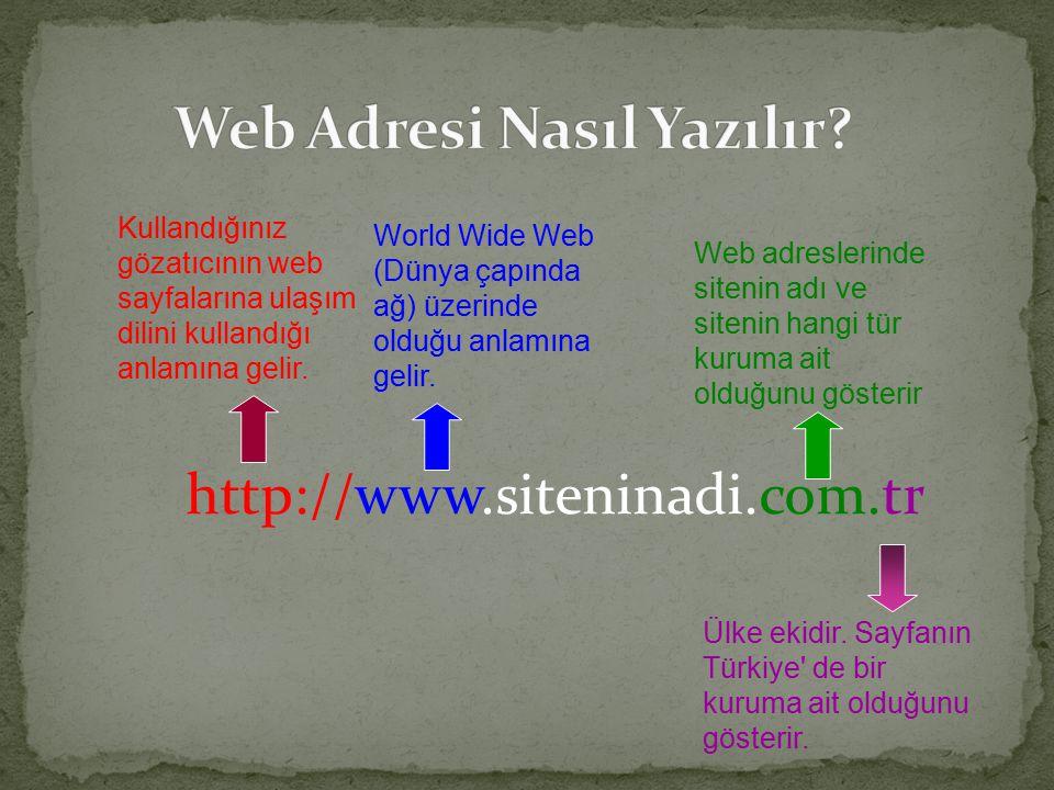 http://www.siteninadi.com.tr Kullandığınız gözatıcının web sayfalarına ulaşım dilini kullandığı anlamına gelir.