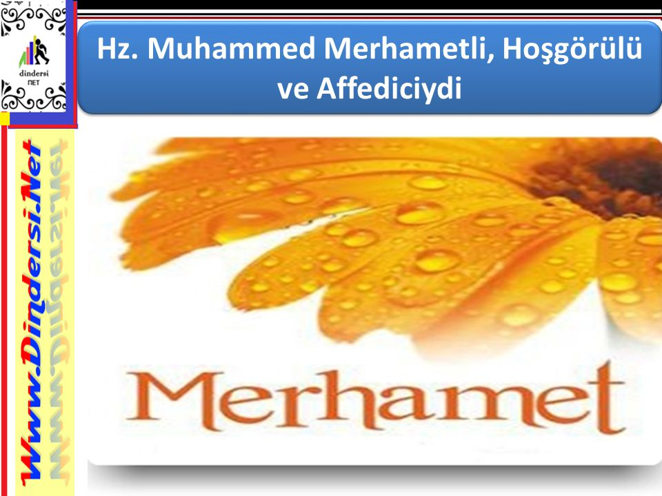 Hz. Muhammed Merhametli, Hoşgörülü ve Affediciydi