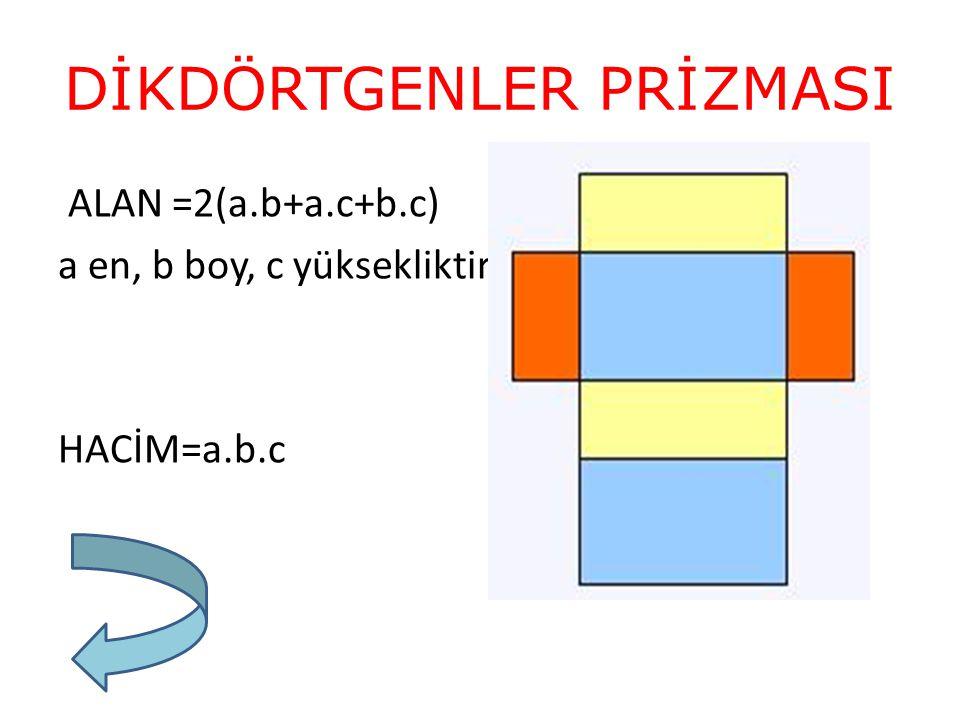 KO - 8 köşesi, -12 ayrıtı, - 6 yüzeyi vardır.- Üst ve alt yüzeyleri eşittir.
