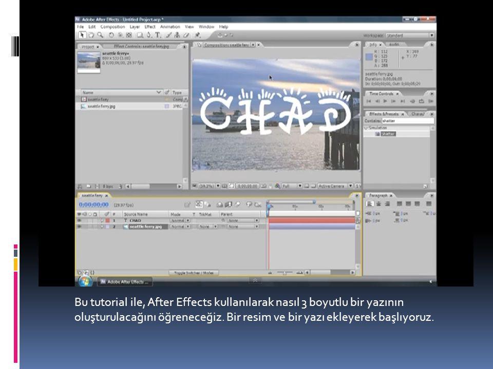 Bu tutorial ile, After Effects kullanılarak nasıl 3 boyutlu bir yazının oluşturulacağını öğreneceğiz.