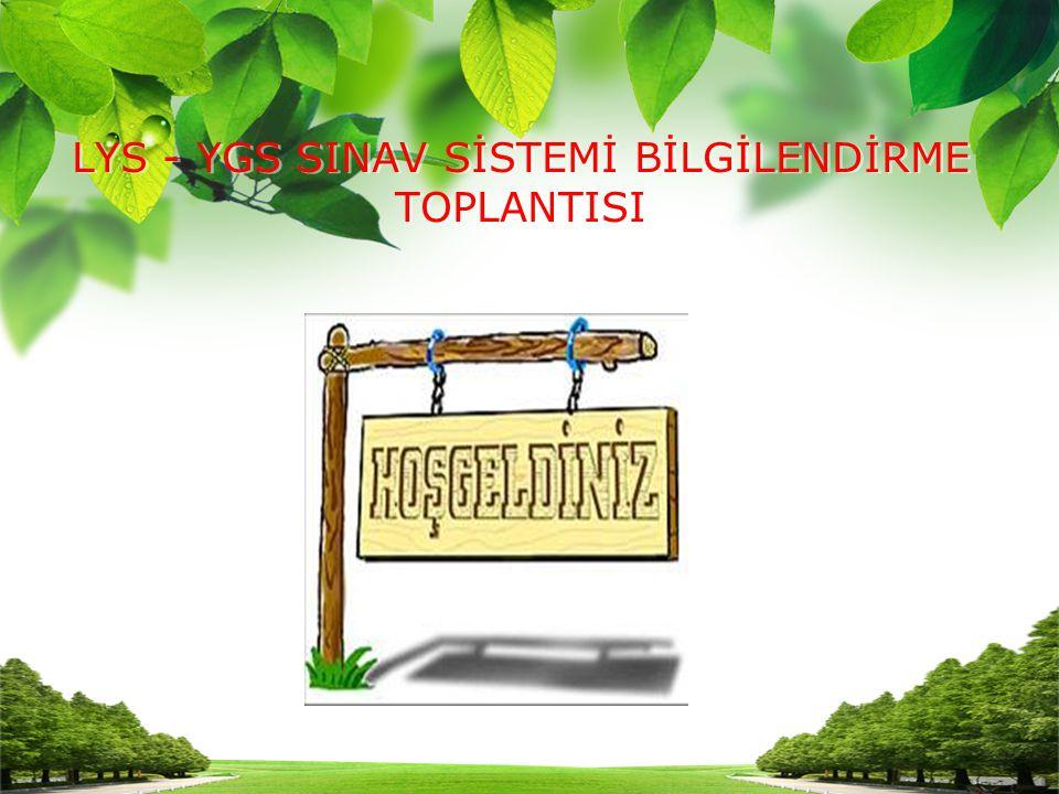 Puan Türü TESTLERİN AĞIRLIKLARI (% OLARAK) YGSY.DİL TürkçeTemel MatSos.