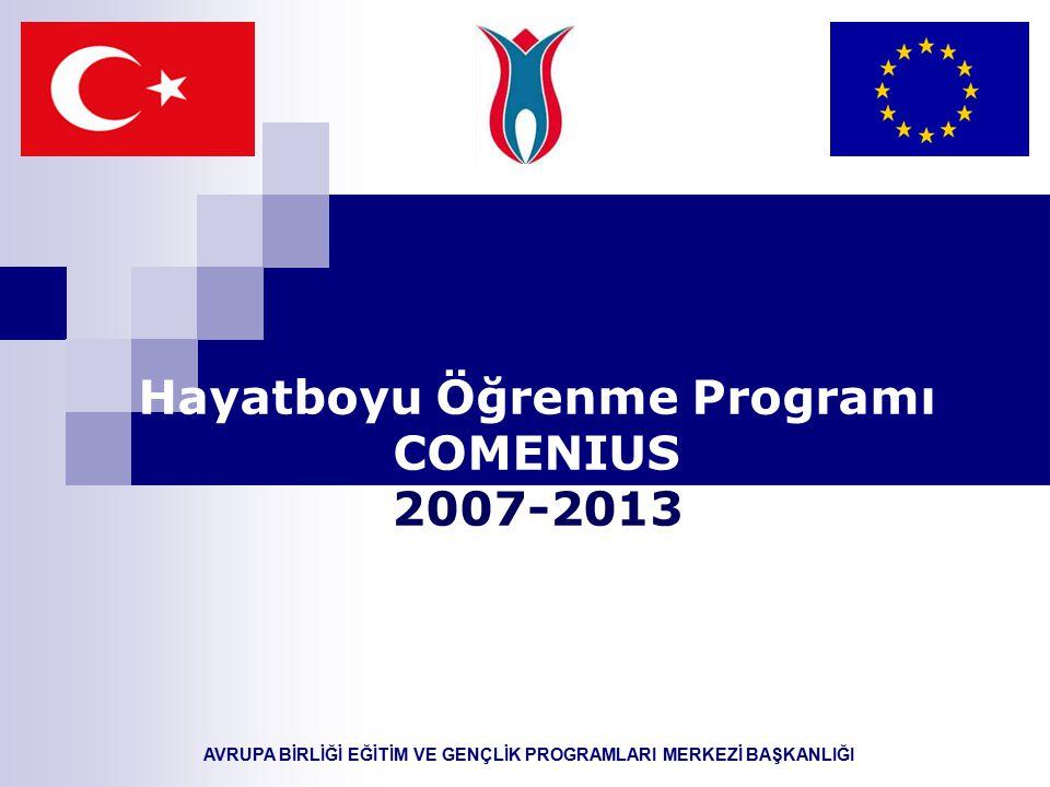 AVRUPA BİRLİĞİ EĞİTİM VE GENÇLİK PROGRAMLARI MERKEZİ BAŞKANLIĞI Hayatboyu Öğrenme Programı COMENIUS 2007-2013