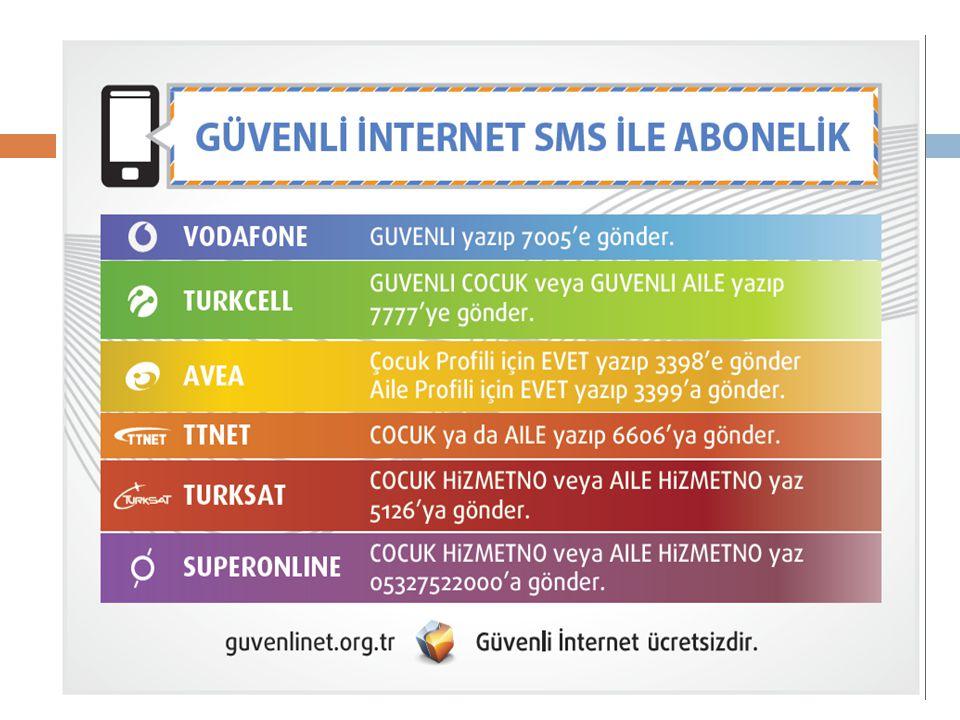  Güvenli internet hizmetini kullanın.