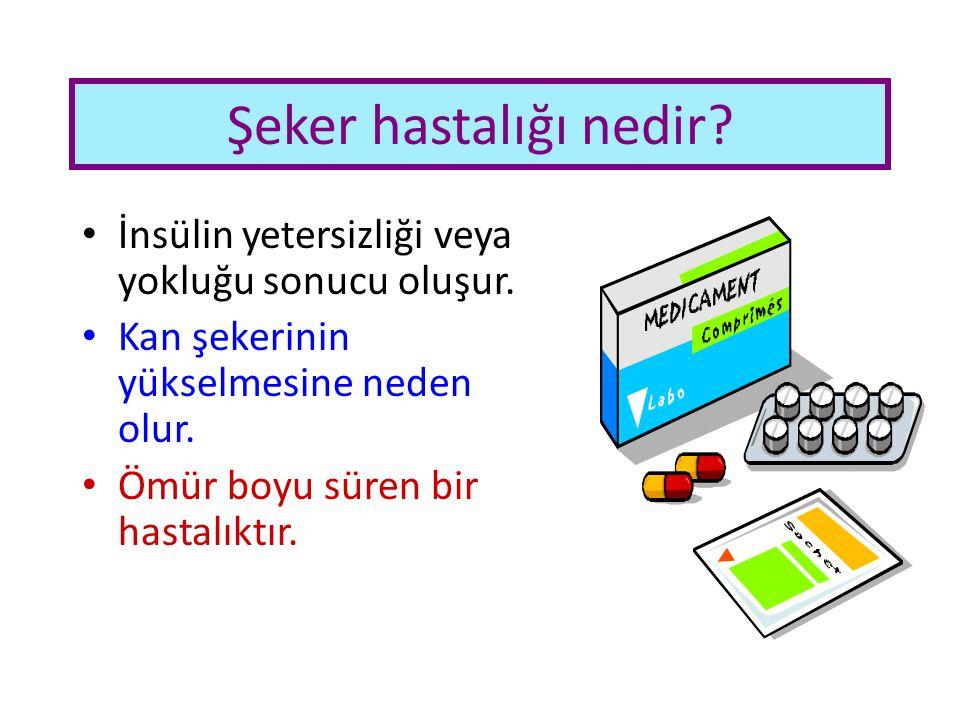 Şeker hastalığı nedir? İnsülin yetersizliği veya yokluğu sonucu oluşur. Kan şekerinin yükselmesine neden olur. Ömür boyu süren bir hastalıktır.