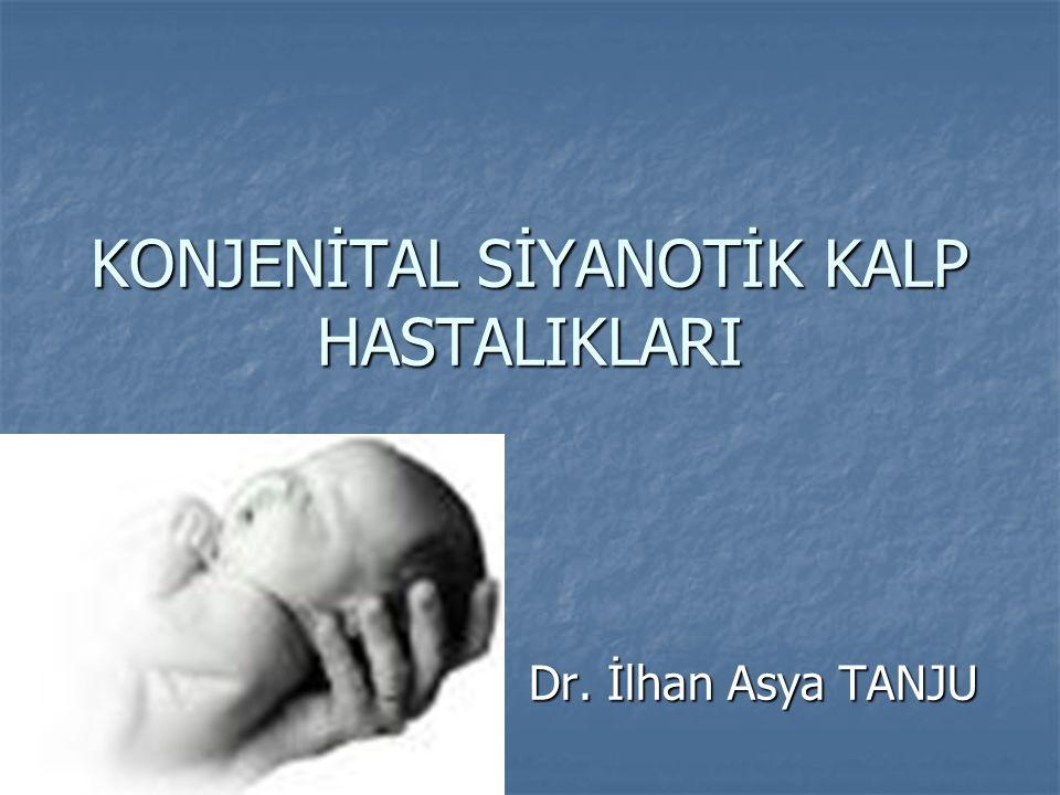 KONJENİTAL SİYANOTİK KALP HASTALIKLARI Dr. İlhan Asya TANJU