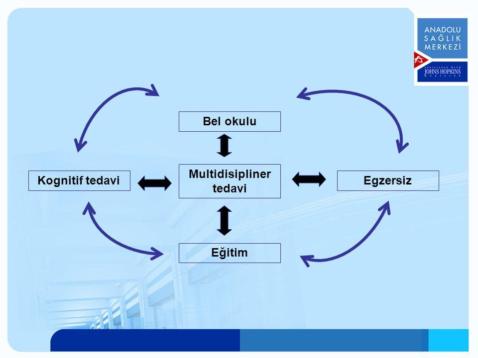 Multidisipliner tedavi Eğitim EgzersizKognitif tedavi Bel okulu