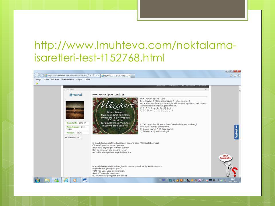 http://www.lmuhteva.com/noktalama- isaretleri-test-t152768.html