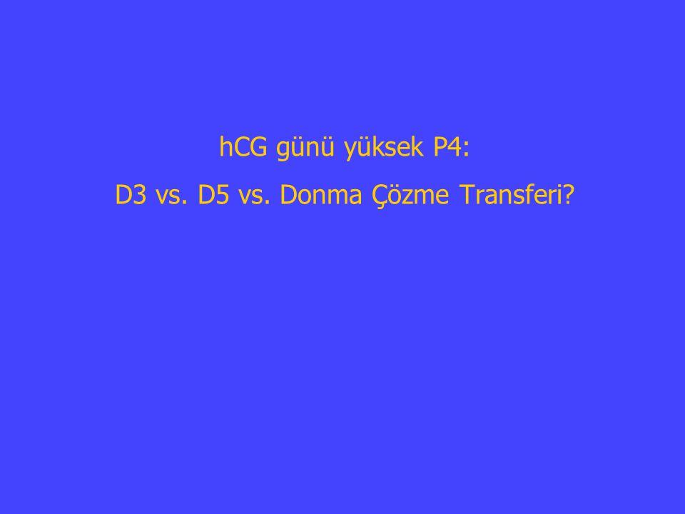 hCG günü yüksek P4: D3 vs. D5 vs. Donma Çözme Transferi?
