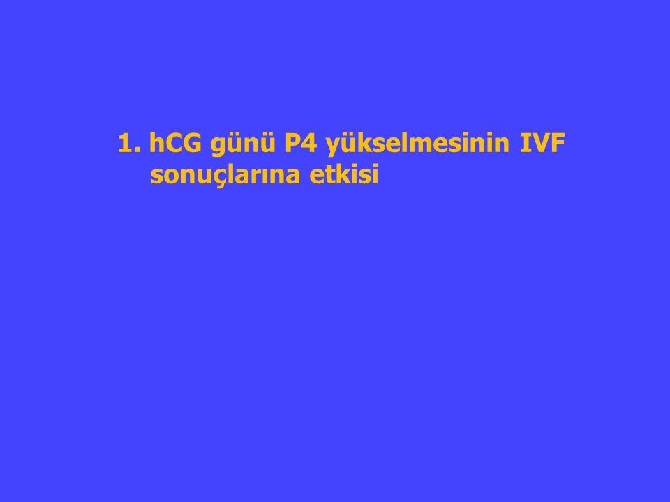 1. hCG günü P4 yükselmesinin IVF sonuçlarına etkisi