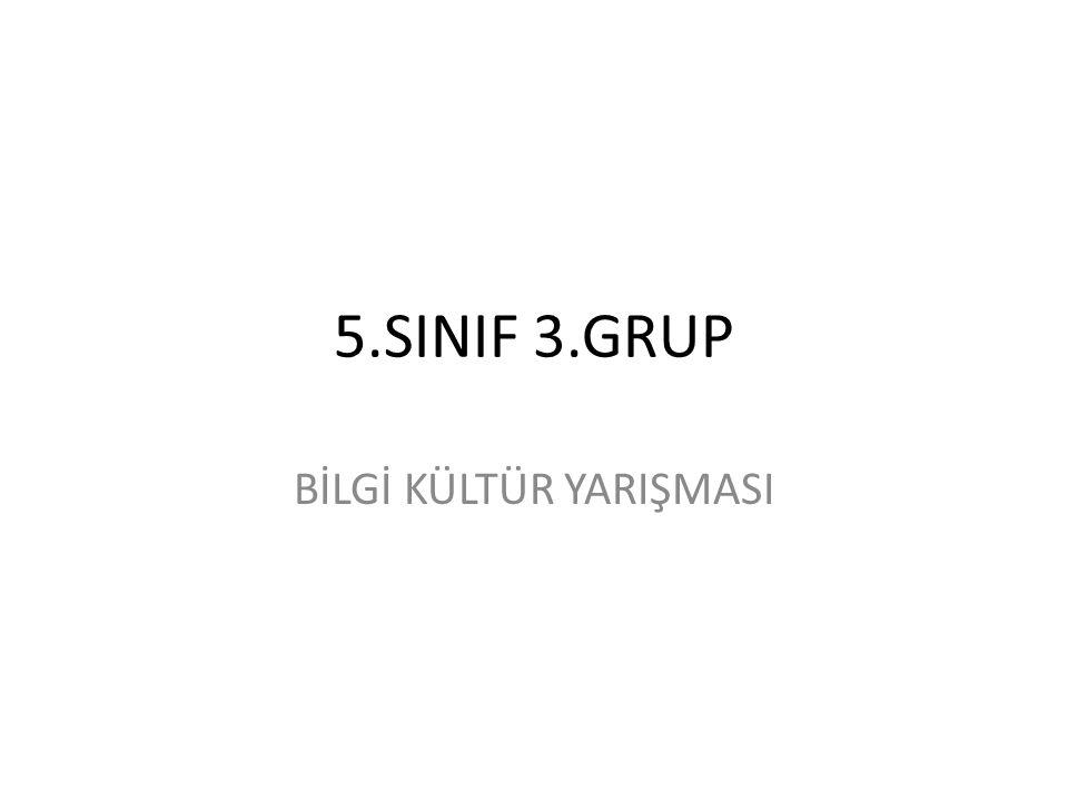 5.SINIF 3.GRUP BİLGİ KÜLTÜR YARIŞMASI