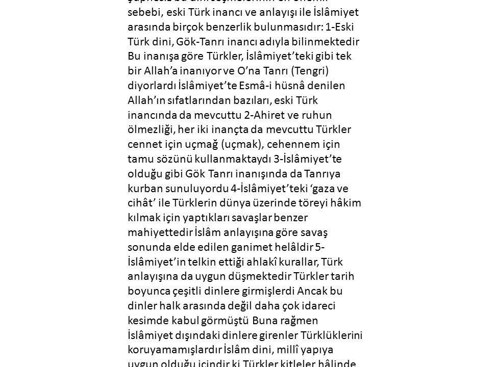 Türklerin İslamiyeti Benimseme Nedenleri Nelerdir.