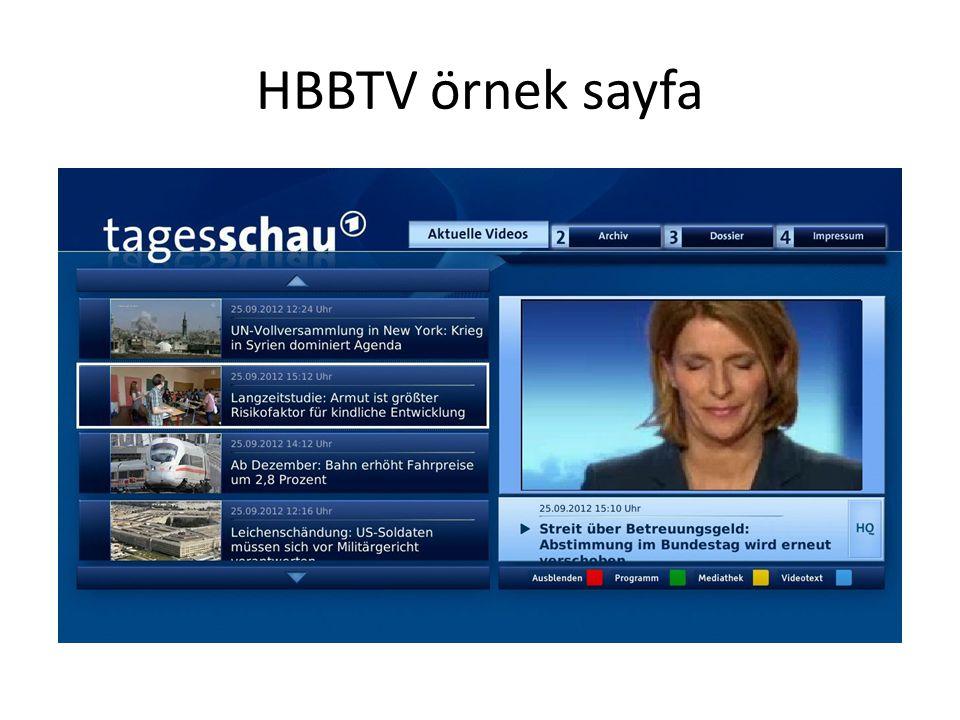 HBBTV örnek sayfa