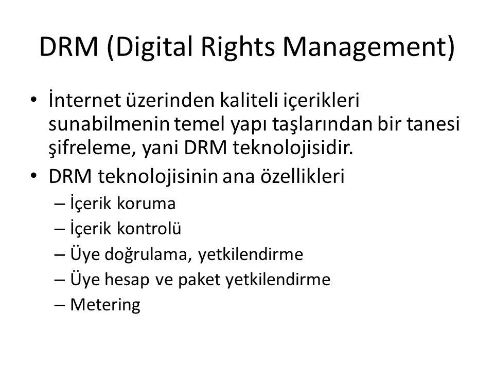 DRM (Digital Rights Management) İnternet üzerinden kaliteli içerikleri sunabilmenin temel yapı taşlarından bir tanesi şifreleme, yani DRM teknolojisid