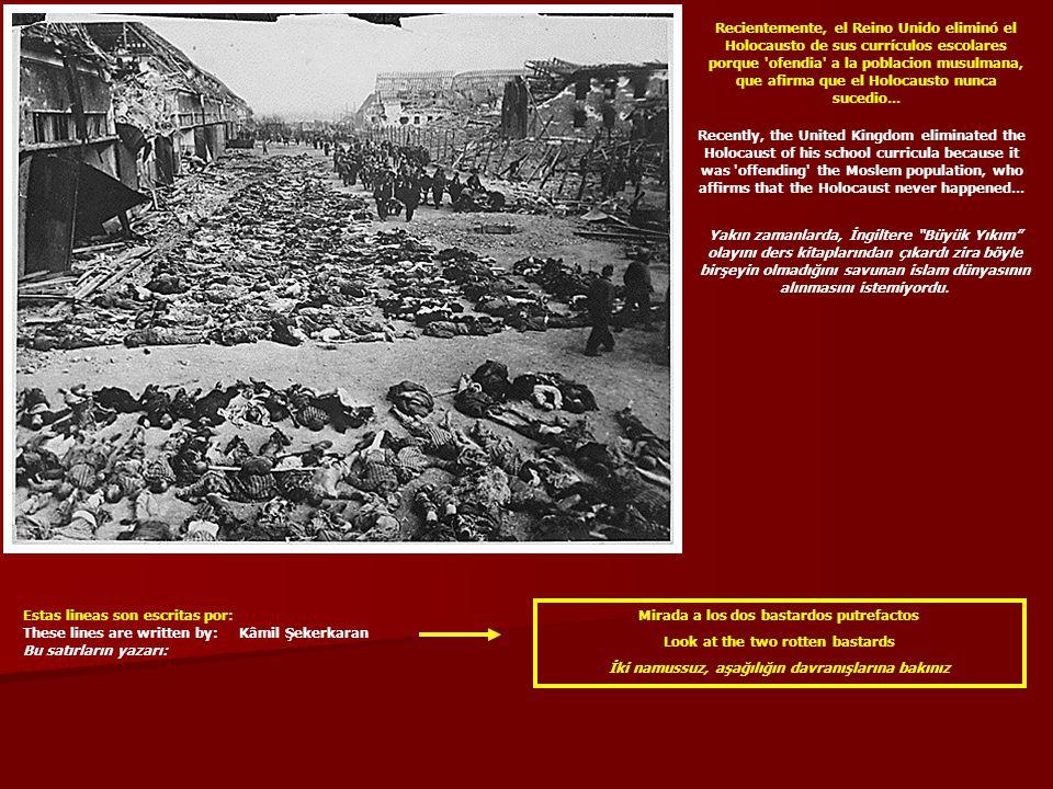 Recientemente, el Reino Unido eliminó el Holocausto de sus currículos escolares porque 'ofendia' a la poblacion musulmana, que afirma que el Holocaust