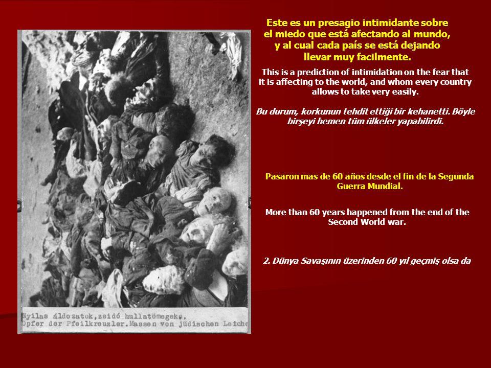 Este e-mail está siendo enviado como una corriente recordatoria, en memoria de los 6 millones de judios, 20 millones de rusos, 10 millones de cristianos, y sacerdotes católicos que fueran asesinados, masacrados, violados, quemados, muertos de hambre y humillados mientras Alemania y Rusia miraban en otras direcciones.