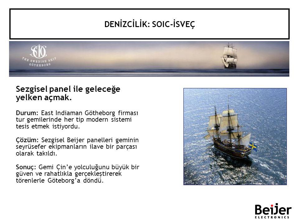 Sezgisel panel ile geleceğe yelken açmak. Durum: East Indiaman Götheborg firması tur gemilerinde her tip modern sistemi tesis etmek istiyordu. Çözüm: