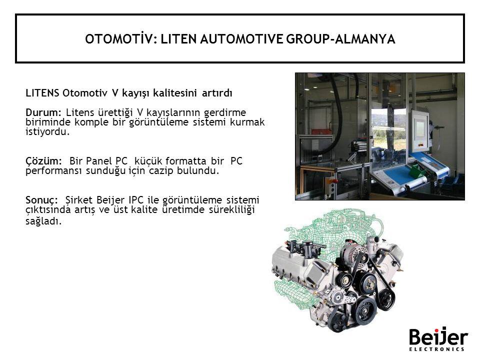 OTOMOTİV: LITEN AUTOMOTIVE GROUP-ALMANYA LITENS Otomotiv V kayışı kalitesini artırdı Durum: Litens ürettiği V kayışlarının gerdirme biriminde komple b