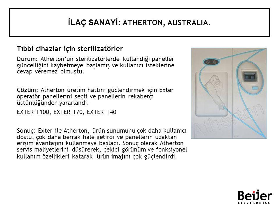 Tıbbi cihazlar için sterilizatörler Durum: Athertonun sterilizatörlerde kullandığı paneller güncelliğini kaybetmeye başlamış ve kullanıcı isteklerine