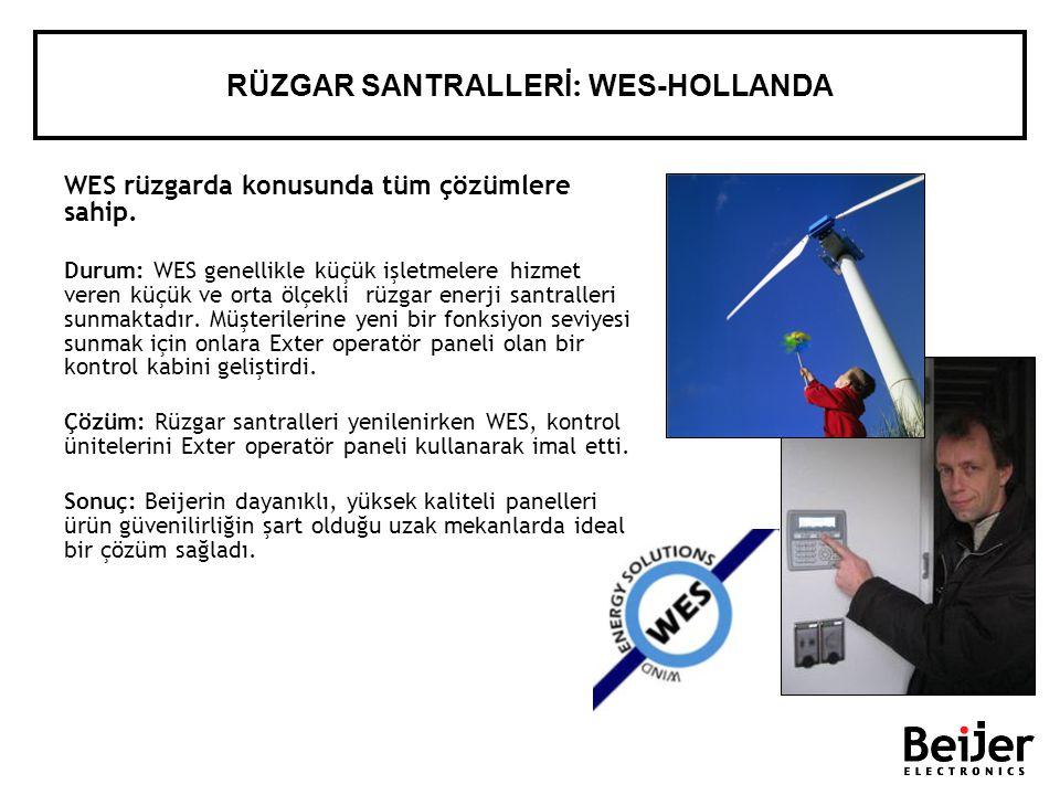 RÜZGAR SANTRALLERİ : WES-HOLLANDA WES rüzgarda konusunda tüm çözümlere sahip. Durum: WES genellikle küçük işletmelere hizmet veren küçük ve orta ölçek