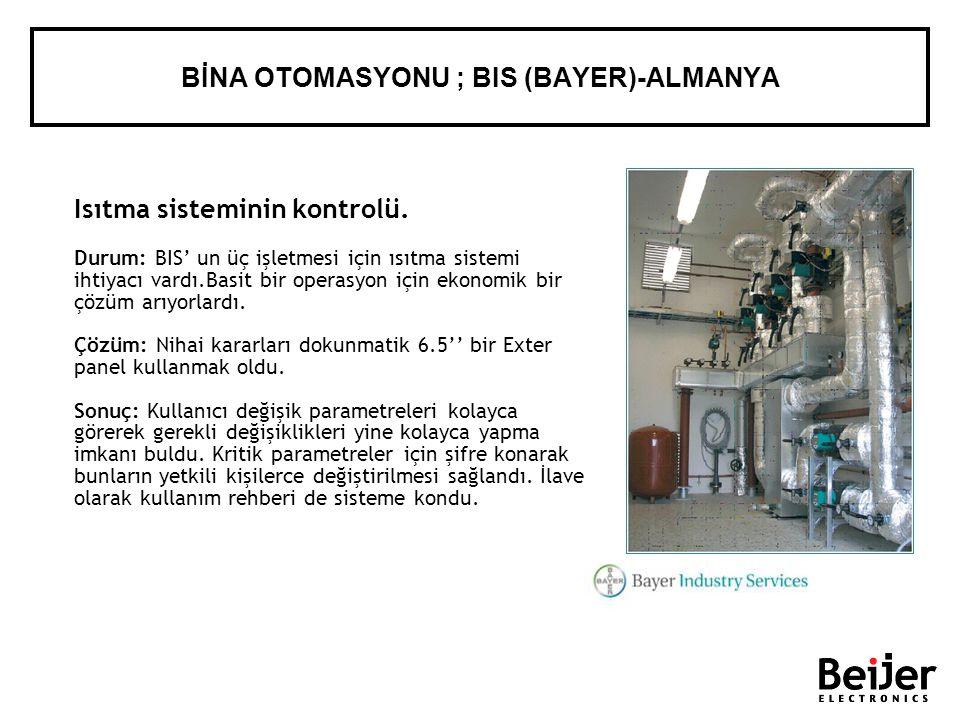 Isıtma sisteminin kontrolü. Durum: BIS un üç işletmesi için ısıtma sistemi ihtiyacı vardı.Basit bir operasyon için ekonomik bir çözüm arıyorlardı. Çöz