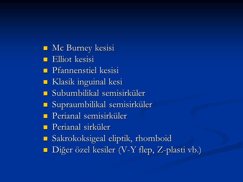 MEDİAN İNSİZYONLAR ÜST ORTA HAT İNSİZYONU (GÜM) Ksifoid ile simfizis pubis arasında vertikal yapılan insizyonlardır.