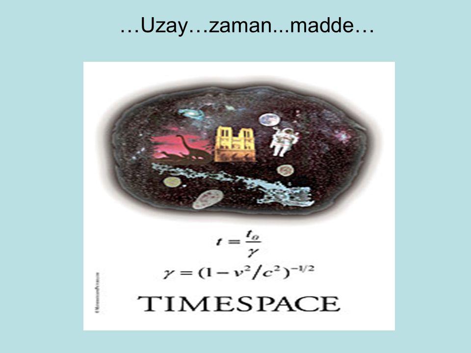 …Uzay…zaman...madde…