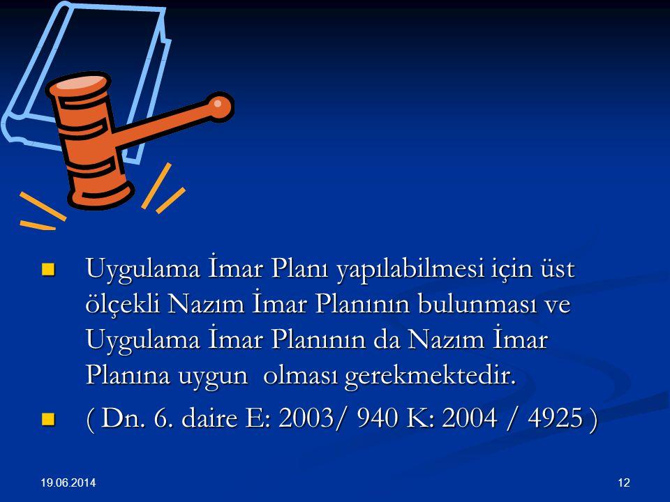 12  Uygulama İmar Planı yapılabilmesi için üst ölçekli Nazım İmar Planının bulunması ve Uygulama İmar Planının da Nazım İmar Planına uygun olması gerekmektedir.