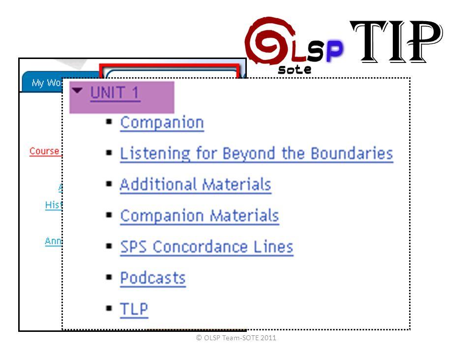TIP © OLSP Team-SOTE 2011
