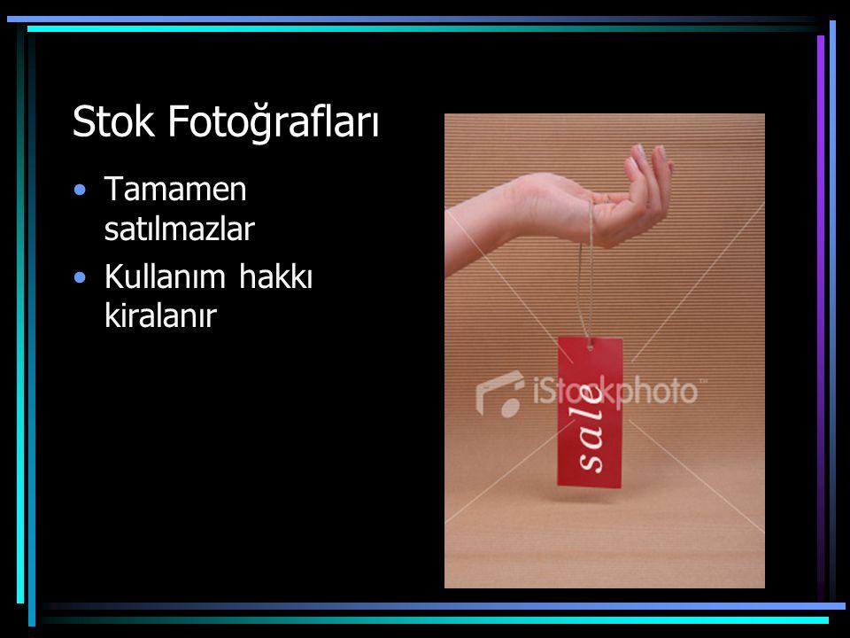 Stok fotoğrafları nerede kullanılır •Reklam •Basın •Broşür •Multimedya •Yıllık Raporlar •Poster •Takvim •Tebrik kartı •Kredi kartı •Web