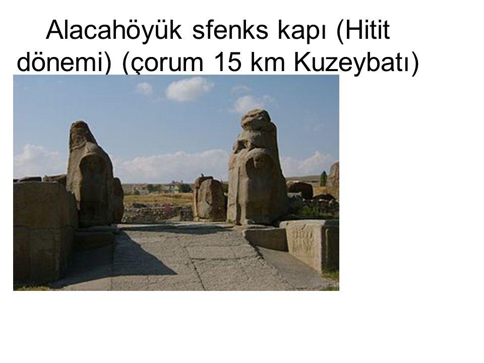•Hattuşa-Boğazköy (çorum 82 km.